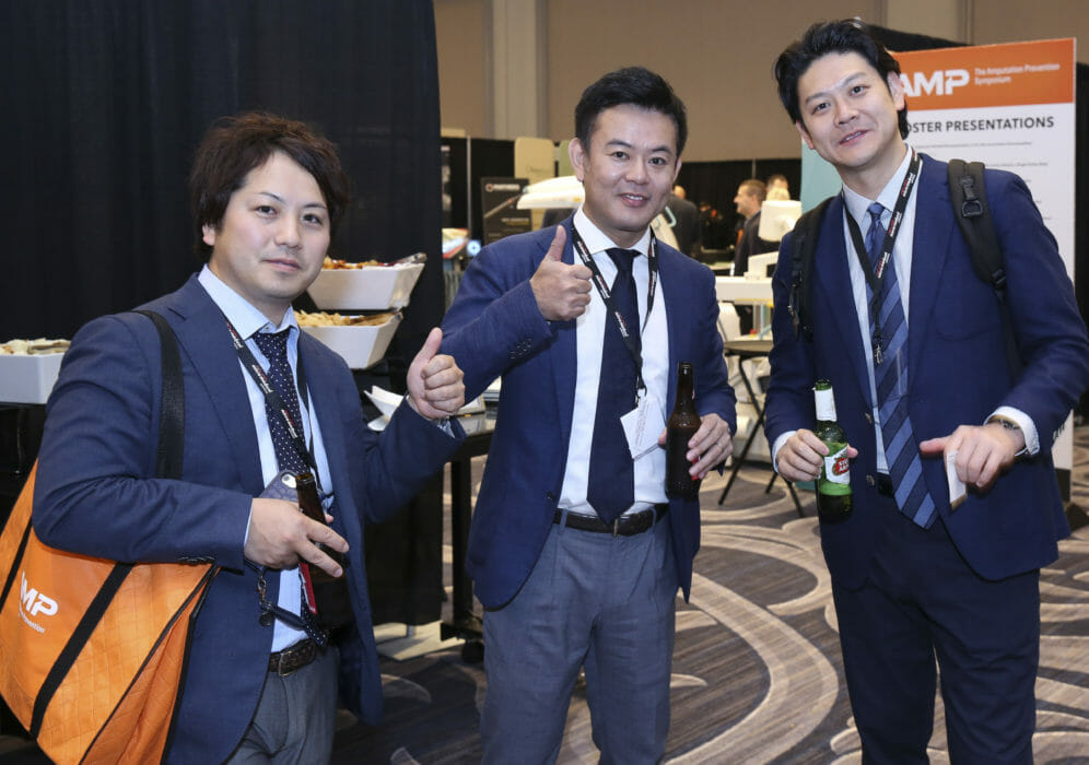 Chicago Convention Photography of 3 male attendees at the Chicago Hilton
