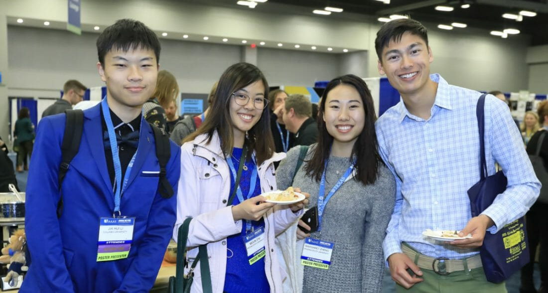 Convention Photography of Asian Students at AAAS Meeting Austin TX