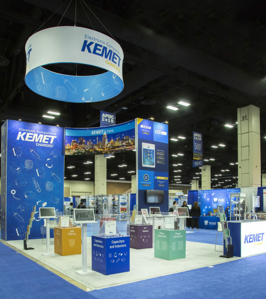 Exhibitor and Tradeshow Booth Photography of KEMET Booth