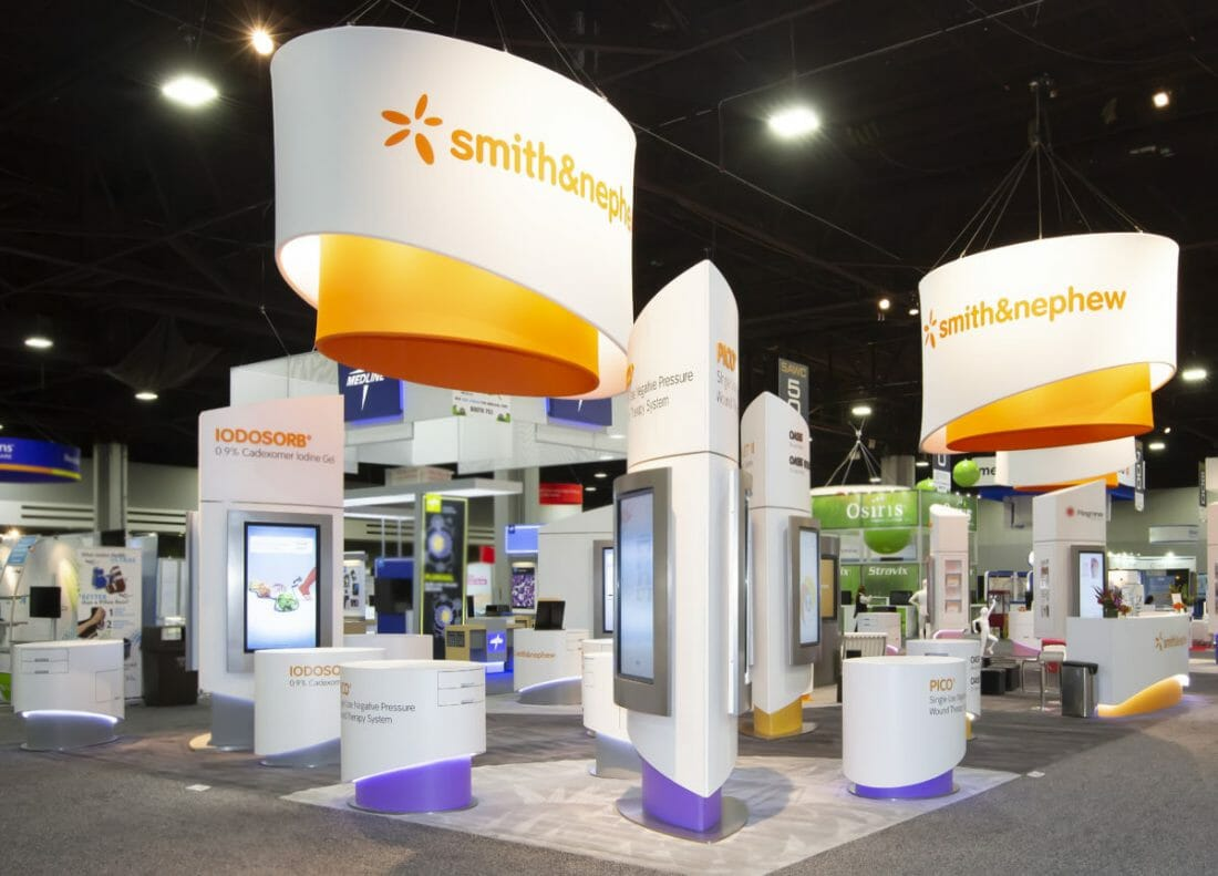 Exhibitor and Tradeshow Booth Photography of smith&nephew