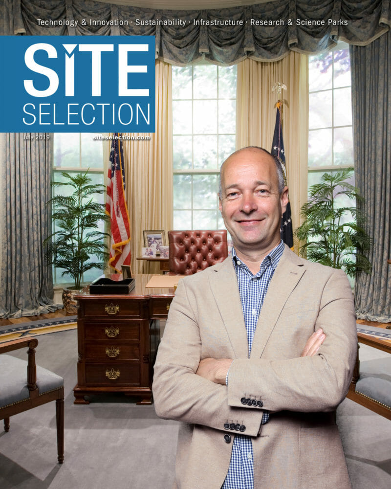 Green Photography of man on magazine cover with the Oval Office behind him