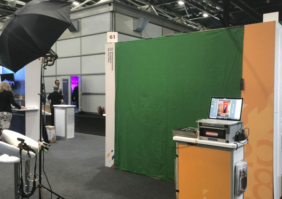 Green Screen Photography setup in Liverpool, UK meeting
