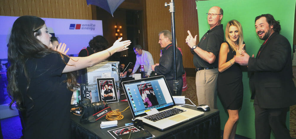 Onsite Green Screen Photography and Social Media station setup at the JW Marriott San Antonio, TX