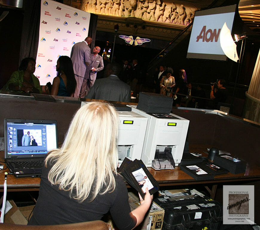 Onsite Printing and Social Media Station with Magic Johnson in New Orleans, Harrahs Casino