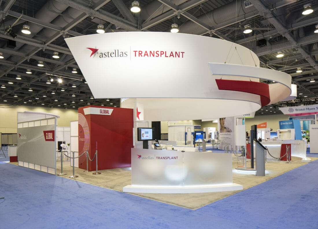 Tradeshow and Exhibitor Booth Photography of Astellas Booth in San Francisco Moscone Center
