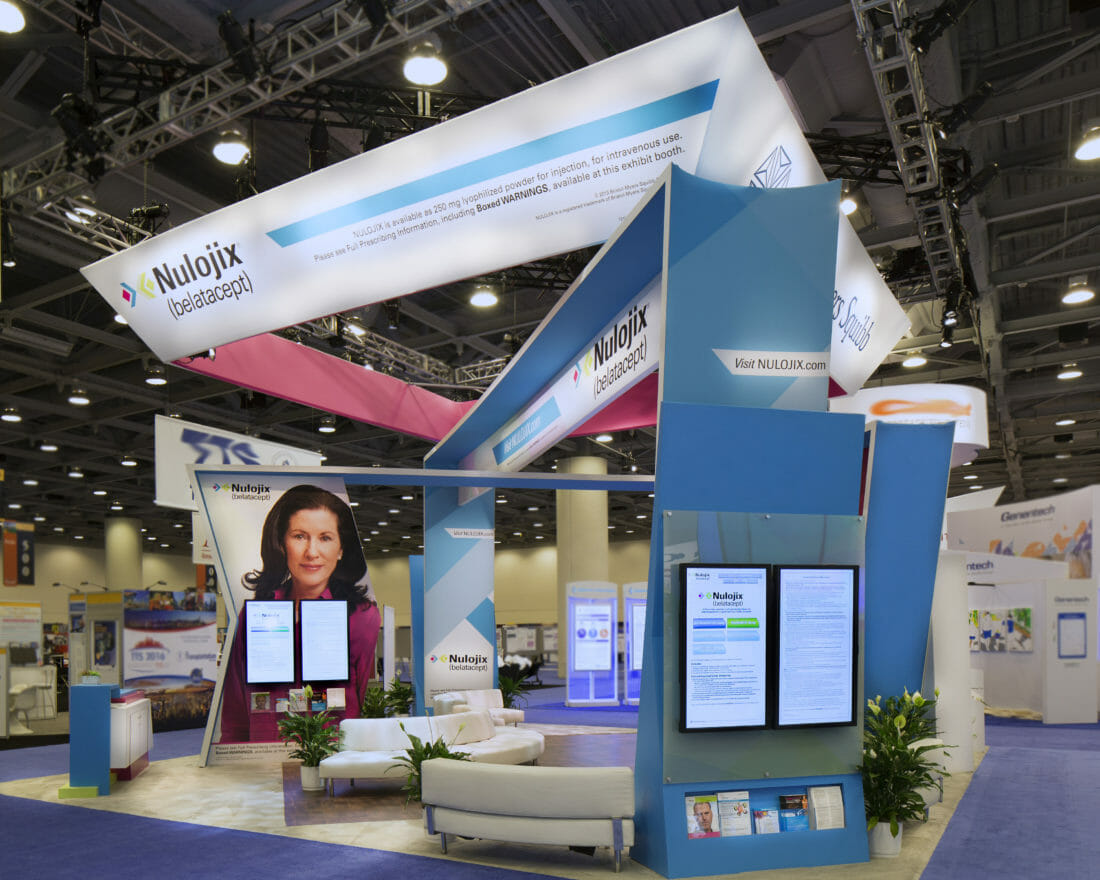 Tradeshow and Exhibitor Booth Photography of Bristol Myers Sqibb in McCormick Convention Center