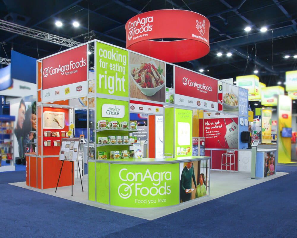 Tradeshow and Exhibitor Booth Photography of ConAgra booth