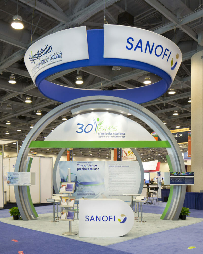 Tradeshow and Exhibitor Booth Photography of SANOFI at Orange County Convention Center