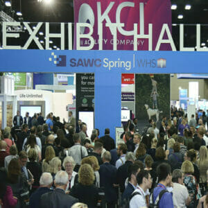 Tradeshow Photography of Attendees entering Exhibitor Hall