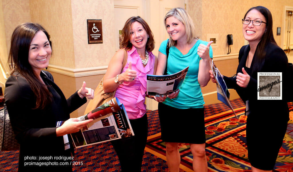 Chicago Convention Photography of Medical Meeting with Attendees giving thumbs up