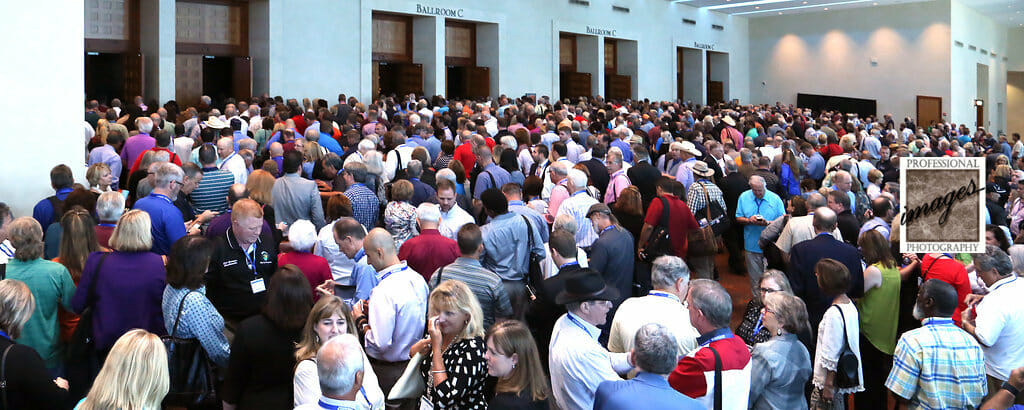 Convention Photography of attendees waiting to enter General Session