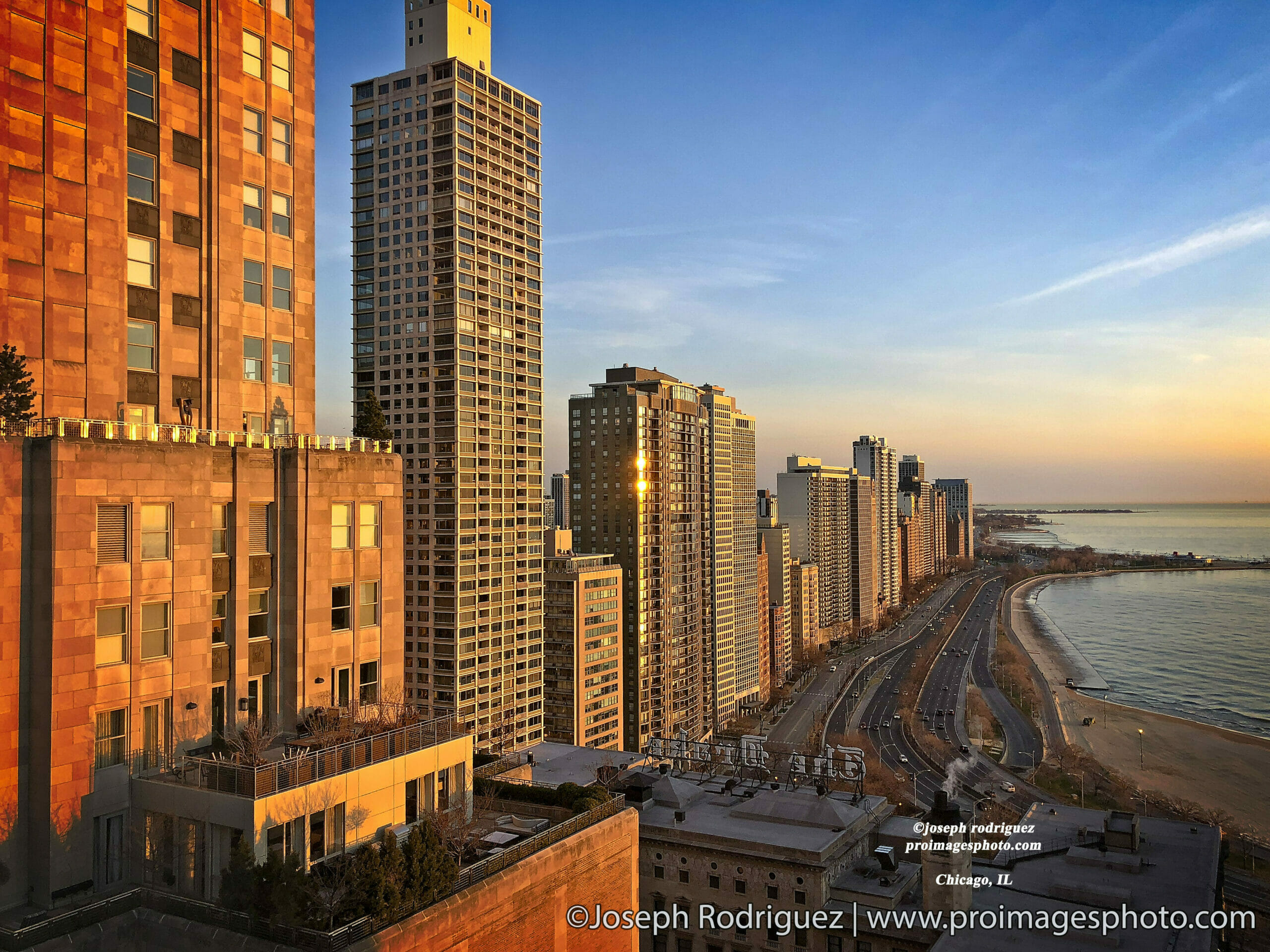 Chicago buildings facing Lake Michigan and you can Calumet Beach Botton right.