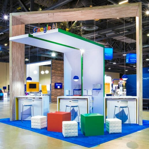 Tradeshow and Exhibitor Photography of Google Booth.