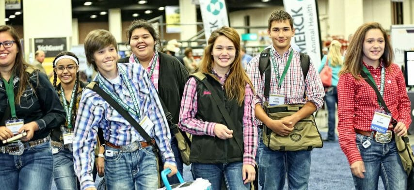 Fort Worth Meetings and Convention Photography of students attending Texas and Southwestern Cattle Raisers Association.