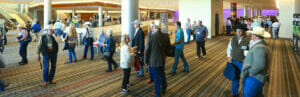 TRCSA Convention attendees between breakout sessions at the Henry B. Gonzalez Convention