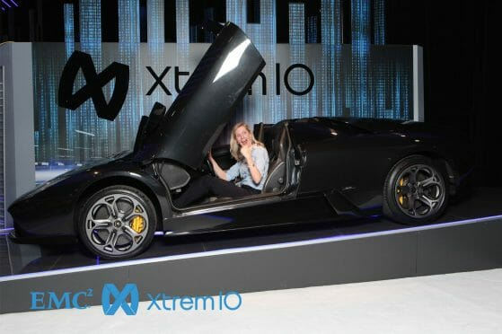 Event Photography of Attendees in Las Vegas sitting in Lamborghini