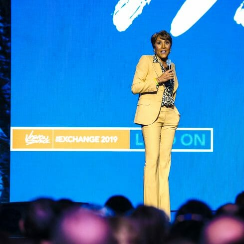 Convention and Event Photography of Robin Roberts at Vision Source meeting