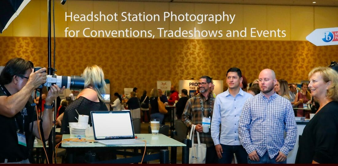 Headshot Station Photography on Exhibit Floor in San Diego for IBO.org