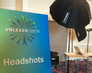 Headshot Station Photography setup before Convention Attendees Arrival