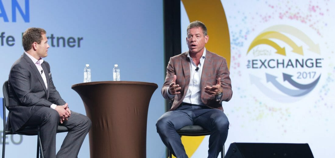 Convention Photography of Troy Aikman at Conference