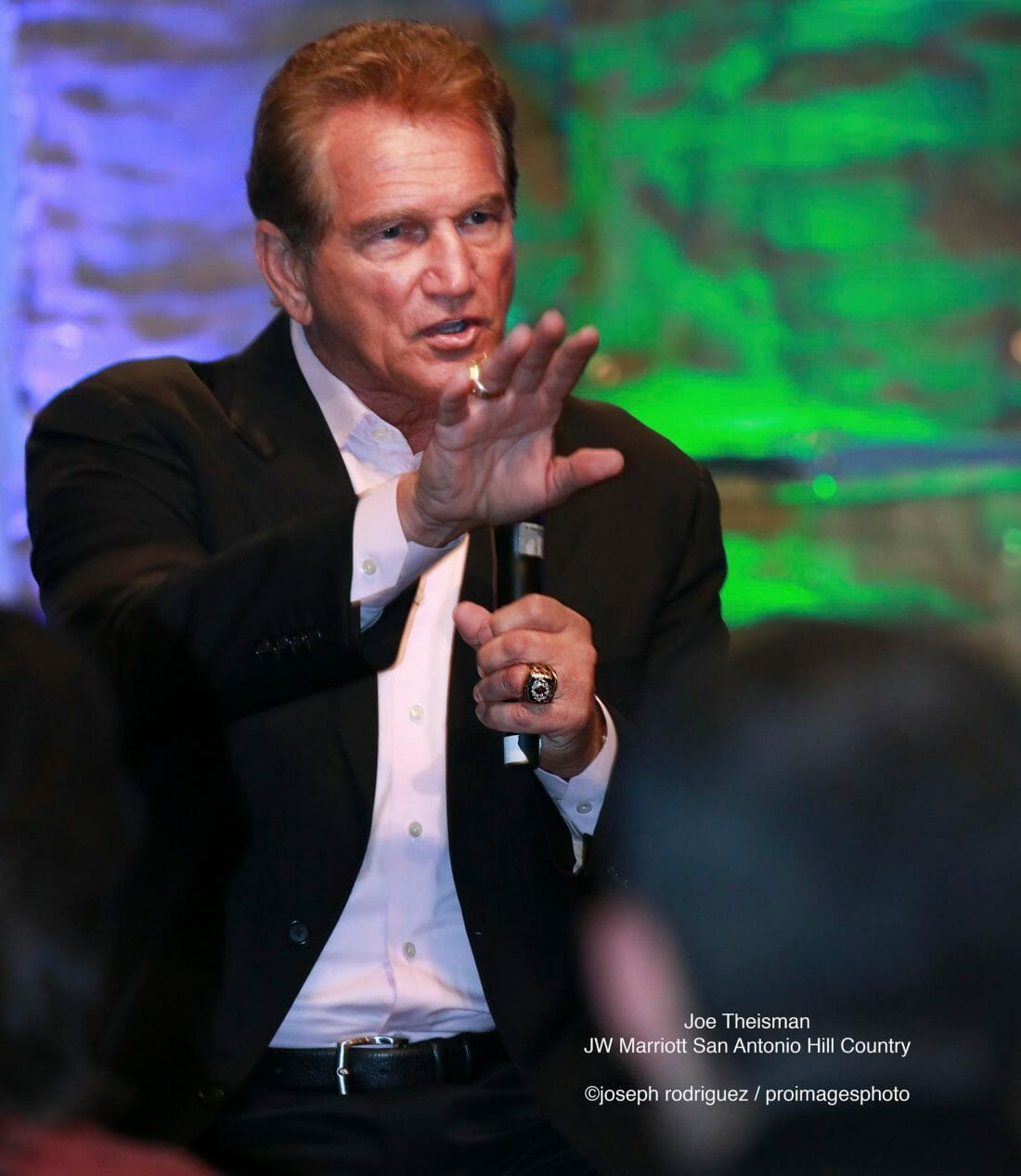 San Antonio Convention Photography of Joe Theismann Guest Speaker at JW Marriott Hill Country Resort