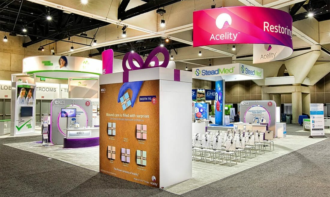 Houston Convention and Tradeshow Booth Photography of Acelity Booth
