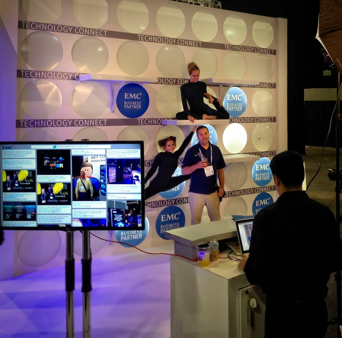 Event Photography and Social Media Station for Tradeshows and Conventions