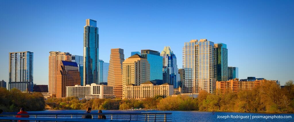 Austin, TX Skyline a city that does alot of Convention and SXSW events